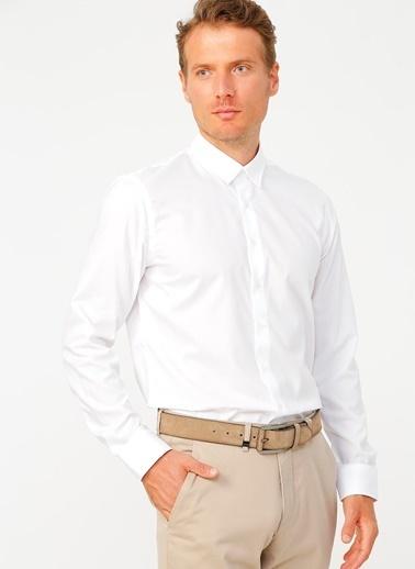 Fabrika Fabrika Ingiliz Yaka Uzun Kollu Erkek Gömlek Beyaz